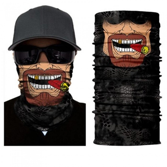 Seamless Skull Skeleton Joker Clown Balaclava Tube Neck Face Mask Scarf Motorcycle Bicycle Hunting Outdoor Bandana Headband