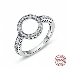 10025-Genuine-925-Sterling-Silver-Forever-Clear-Black-CZ-Circle-Round-Finger-Rings-for-Women-Jewelry-Circle-Rings-SCR1129