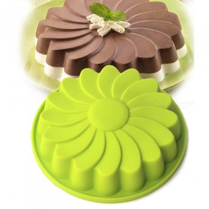 8 Inch Round Silicone Cake Mould Oven Baking Tools  Chiffon Cake Mould Baking Dishes & Pans Colors at Random Random
