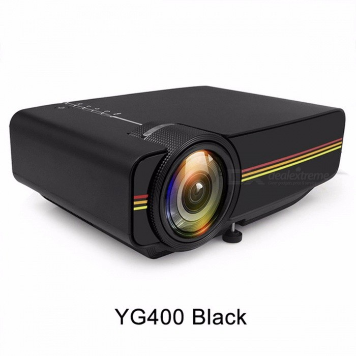 Mini Projector Wired Sync Display Portable Video For Home Theater Support 1080P Proyector AC3 HDMI VGA USB black