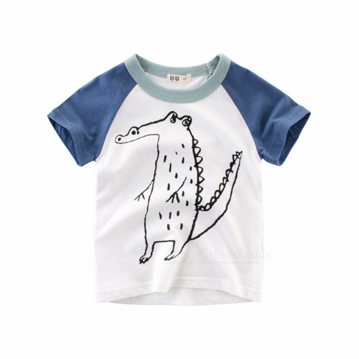 2018 Summer Boy Short-sleeved T-shirt Children\'s Clothing Baby Clothes Navy Blue/11