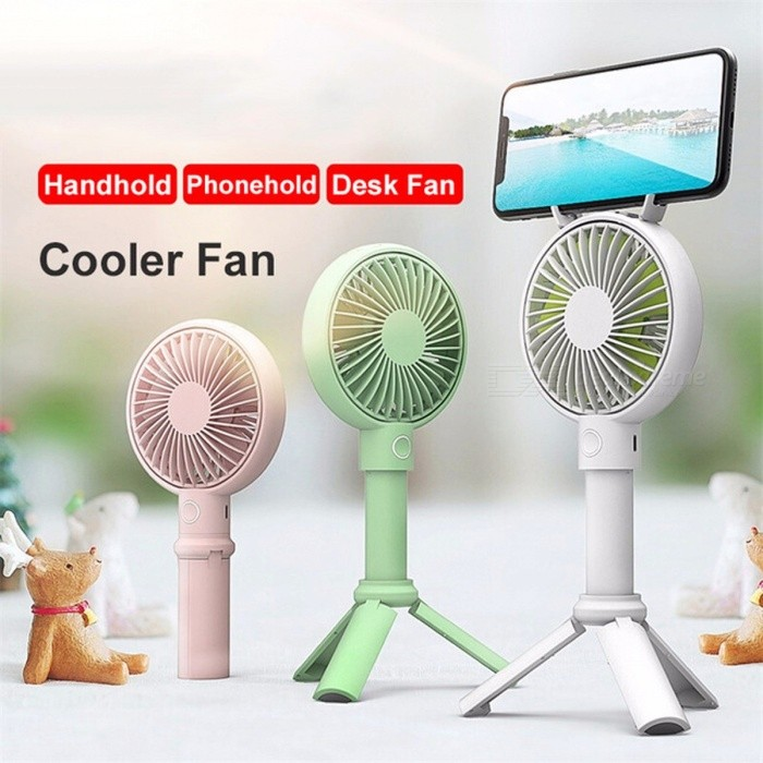 Buy Handheld USB Fan Cooler Portable 3 Speed Adjustable Mini Fan 2000mAh Rechargeable Handy Small Desk Desktop USB Cooling Fan Green with Litecoins with Free Shipping on Gipsybee.com