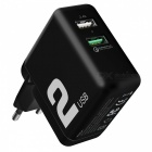 ROCK-T13-QC30-Dual-USB-Ports-Travel-Charger-(US-Plug)-WhiteUniversal