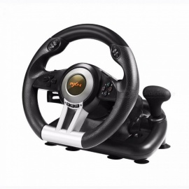 PXN-V3 4in1 Racing Game Steering Wheel For PC PS3 PS4 Xbox One Host Game Controller For Car Driving Gaming Black