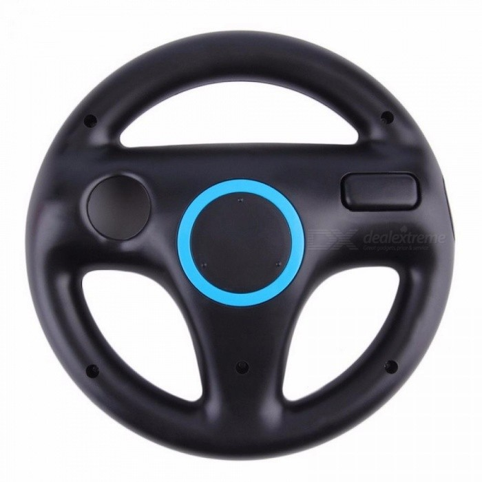 Steering Wheel For Nintendo Wii Mario Kart Racing Games Remote Controller Black