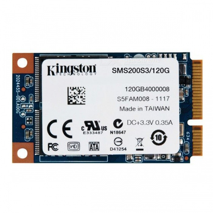 Buy Kingston SSDNow mS200 Series SMS200S3/120G 120GB SSD, 550MB/s (Read), 520MB/s (Write) SATA 3 with Litecoins with Free Shipping on Gipsybee.com