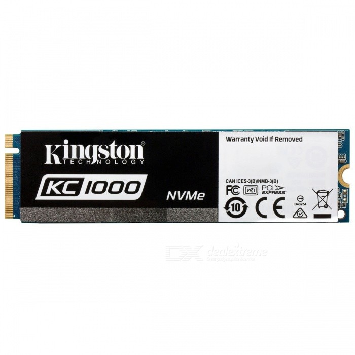 Kingston SSDNow KC1000 Series SKC1000/480G 480GB SSD, 2700MB/s (Read), 1600MB/s (Write) NVMe for sale in Bitcoin, Litecoin, Ethereum, Bitcoin Cash with the best price and Free Shipping on Gipsybee.com