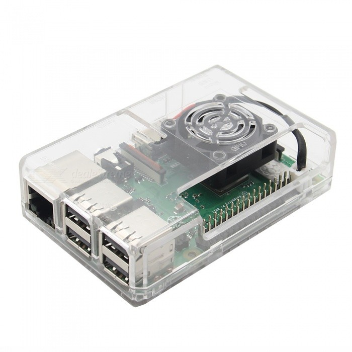 Geekworm  ABS Case / Enclosure with Fan Hole For Raspberry Pi 3 Model B+ / 3B / 2B