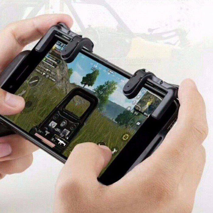 Mobile Game Assistant Artifact Gamepad Shortcut Button Shooter Terminator Joystick Black