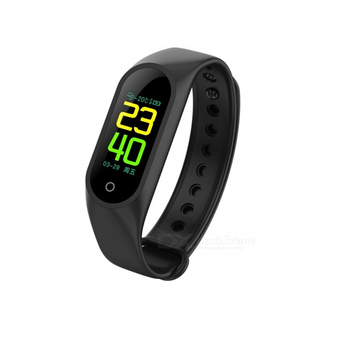M3 Color Screen Smart Sports Watch Bracelet with Blood Pressure / Oxygen / Heart Rate Monitoring - Black