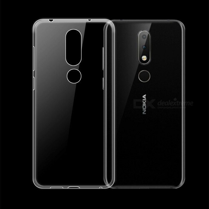 new product f9ad5 9ada2 Dayspirit Ultra-Thin Protective TPU Back Case for Nokia 6.1 Plus ,Nokia X6  - Transparent