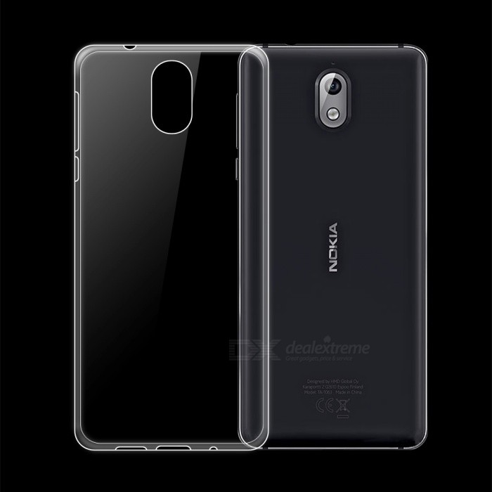 Dayspirit Ultra-Thin Protective TPU Back Case for Nokia 3.1 - Transparent