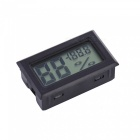OJADE Mini Portable Digital LCD Humidity / Thermometer / Hygrometer Meter - Black