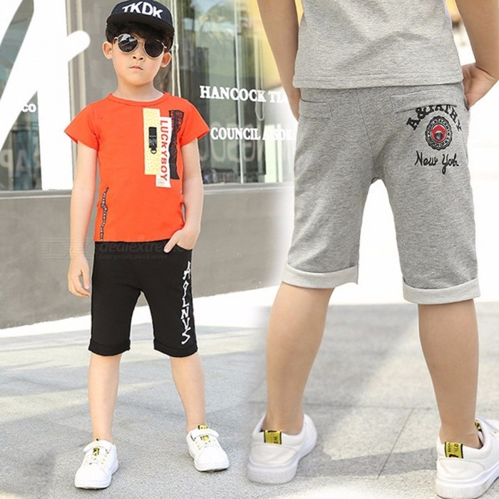 Children\'s Summer Shorts Pants, Boy Kids Casual Pants Gray/11