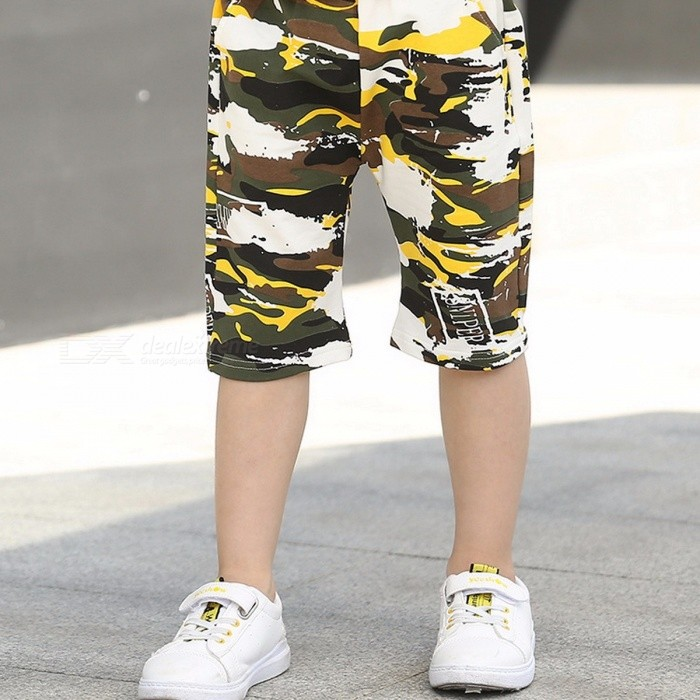 Fashion Boys Camouflage Shorts Summer Cotton Cool Pants Yellow/13