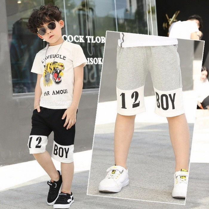 2018 New Summer Children\'s Shorts Boy Casual Pants Shorts Gray/13