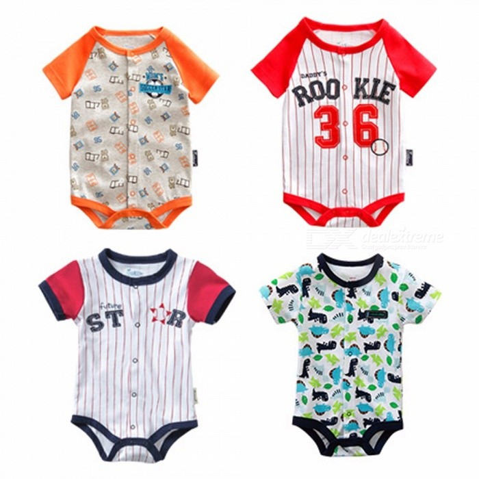 Baby Boys Bodysuits Summer Children Climb Clothing Red/24M