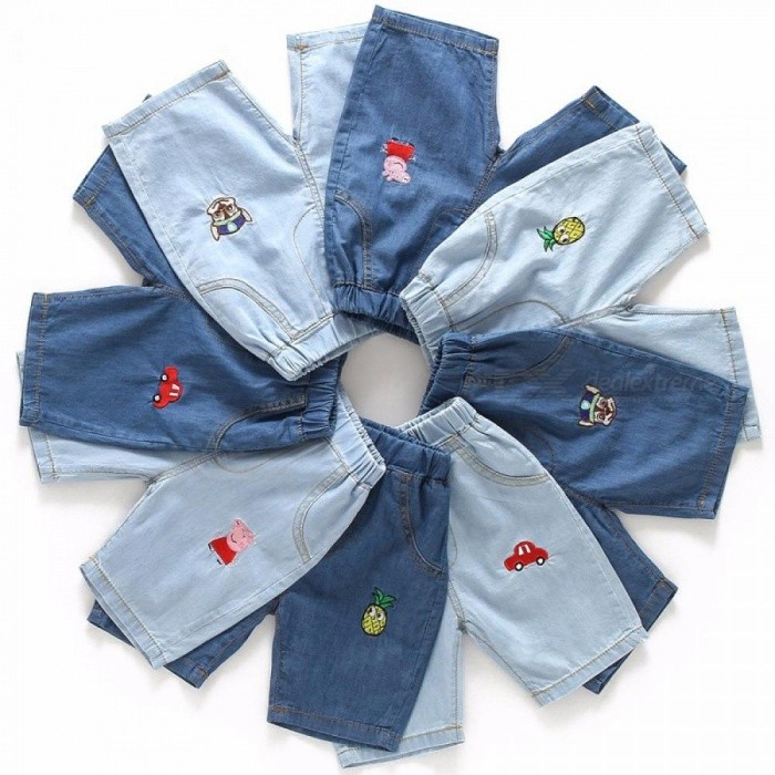 Summer Baby Boys Girls Jeans Shorts Pants Fashion Denim Short Pants Yellow/9