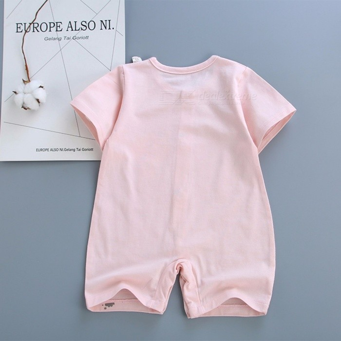 Baby Romper Summer Baby Costume Girls Boys Short Sleeve Jumpsuit Pink/9M