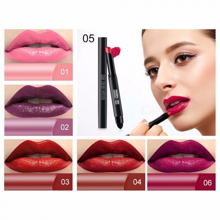 Buy MAANGE 12 Colors Lipstick Moisturizer Waterproof Long Lasting Matte Lip Sticker Lipstick Lip Gloss Tint Sexy Makeup White with Litecoins with Free Shipping on Gipsybee.com