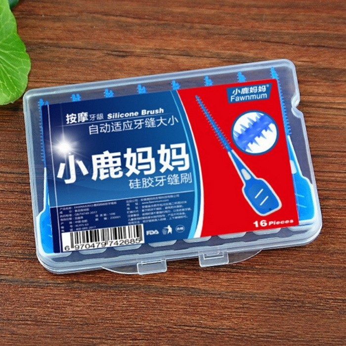16 Pcs/Set Soft Elastic Massage Gingival Interdental Brush Massage Toothpick Toothbrush Floss Dental Flosser Blue for sale in Bitcoin, Litecoin, Ethereum, Bitcoin Cash with the best price and Free Shipping on Gipsybee.com