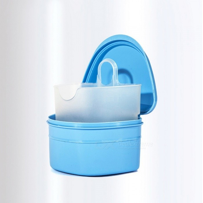 Denture Box, High Quality Full Denture Soaking Case, Prosthesis Container Denture Bath Box Random Color