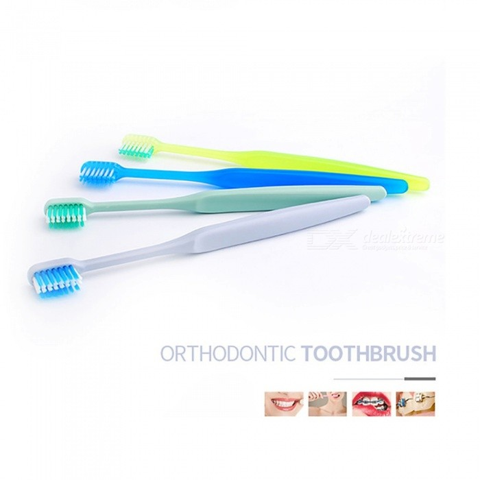 Buy U-shaped Small Head Orthodontic Toothbrush, Soft Bristle Ortodoncia Teeth Brush, Brace Teeth Toothbrush Green with Litecoins with Free Shipping on Gipsybee.com