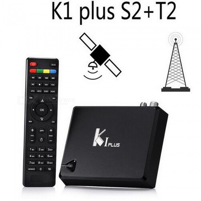 Buy KI Plus T2 S2 Smart Android 5.1 TV Box, Amlogic S905 Quad-Core 64-Bit 1GB/8GB Wi-Fi Set Top Box, Support DVB-T2 DVB-S2 AU Plug/Black with Litecoins with Free Shipping on Gipsybee.com