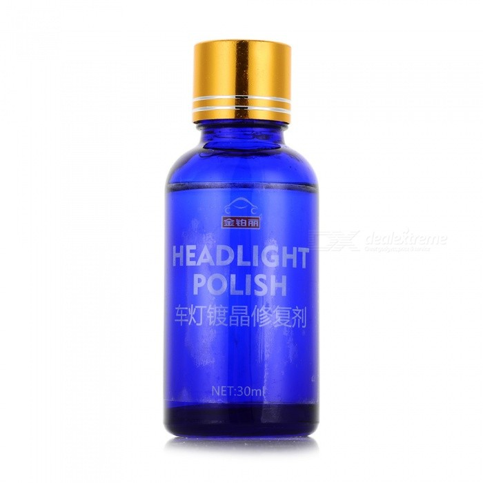 30ML Car Headlight Repair Agent, Refurbished Cleaning Liquid Care Restoration Tool, Auto Polishing Coating Protector Blue