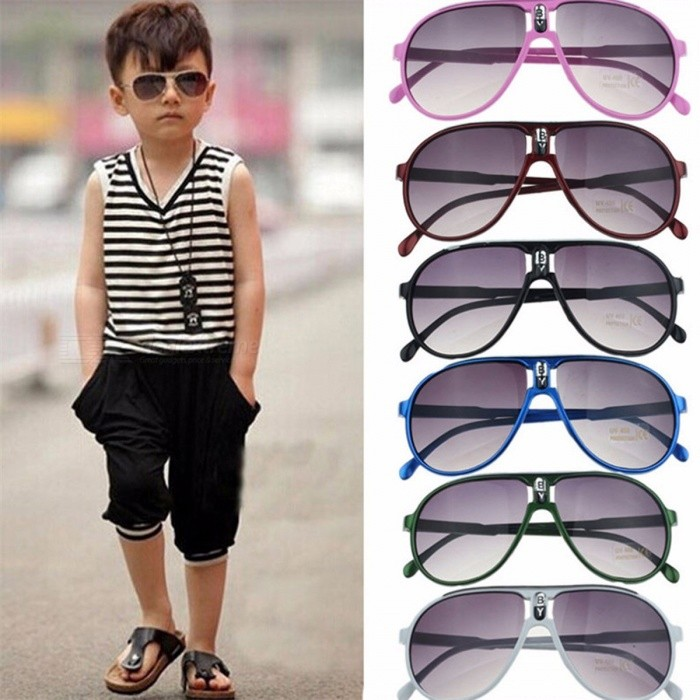 Buy Fashion Children Sunglasses Boys Girls Kids Baby Child Sun Glasses Goggles UV400 Mirror Glasses Pink with Litecoins with Free Shipping on Gipsybee.com