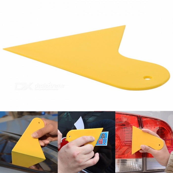 Mini Plastic Car Vehicle Snow Ice Shovel Scraper Removal Clean Tool (5 PCS) Yellow