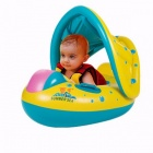 Baby-Kids-Swim-Ring-With-Adjustable-Sunshade-Summer-Inflatable-Swim-Float-Boat-For-Pool-Beach-Multi