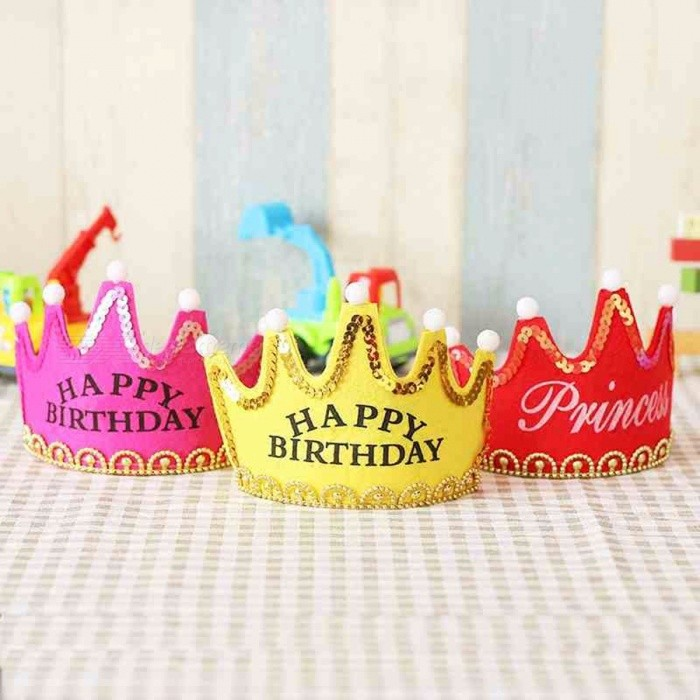 Decoration | Birthday | Princess | Shower | Happy | Party | Baby | King | Cap | Day | LED | Kid | Hat