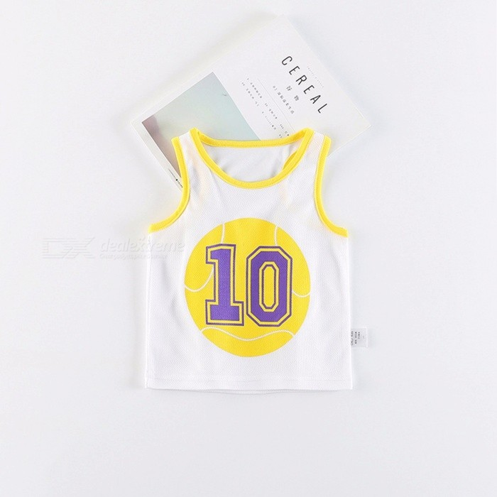 Summer Vest Two-piece Children Sleeveless Vest Set White/11