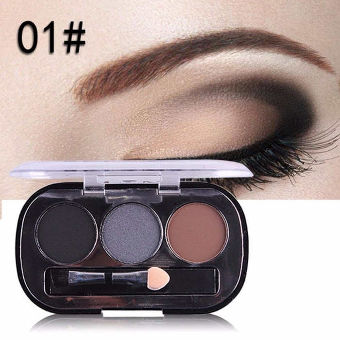 Buy SELAMY Makeup Matte Eye Shadow 3 Color Nude Balm Minerals Powder Pigments Long-lasting Matte Shimmer Dark Gray with Litecoins with Free Shipping on Gipsybee.com