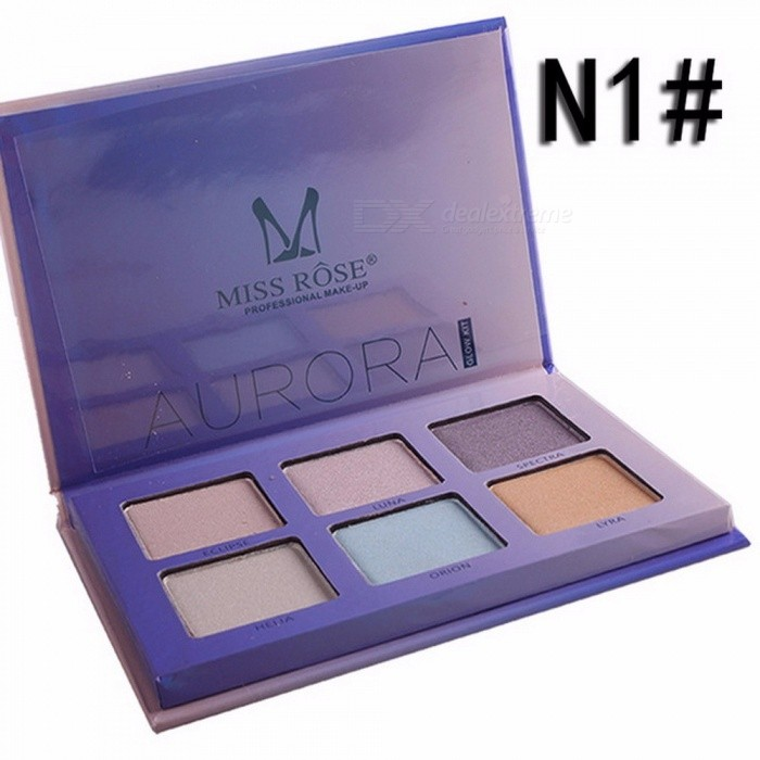 Buy Miss Rose Contour Makeup For Women Long Lasting Shimmer Brighten Face Glow Powder Highlighters Makeup Palette Sky Blue with Litecoins with Free Shipping on Gipsybee.com