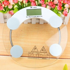26cm-Tempered-Glass-Mini-Digital-Weighing-Scale-Weight-Body-Scale-Balance-Clear