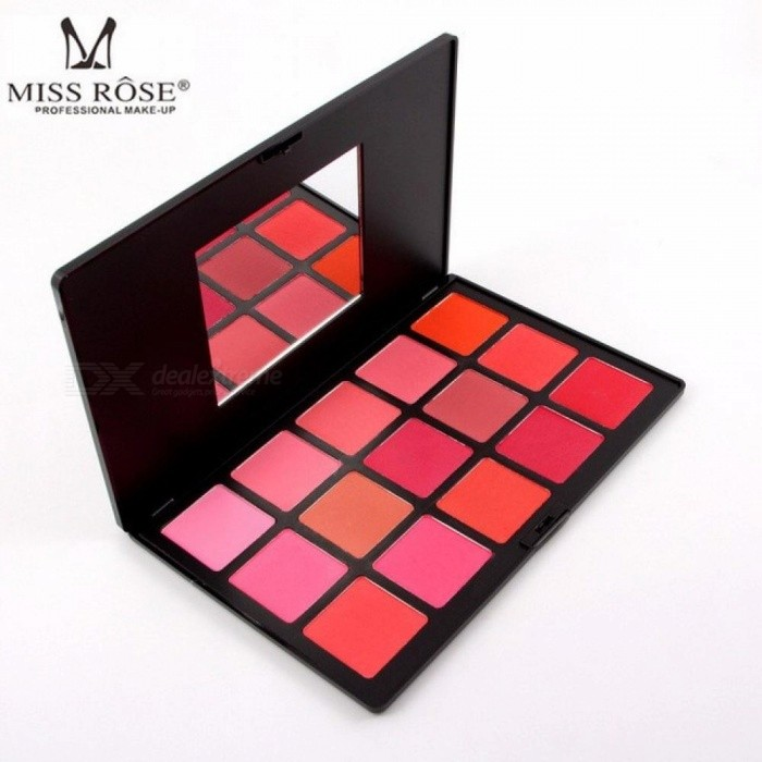 Buy Miss Rose 15 Color Blusher Pink Natural Blush Palette Mineral Professional Face Contour Foundation Makeup Red with Litecoins with Free Shipping on Gipsybee.com
