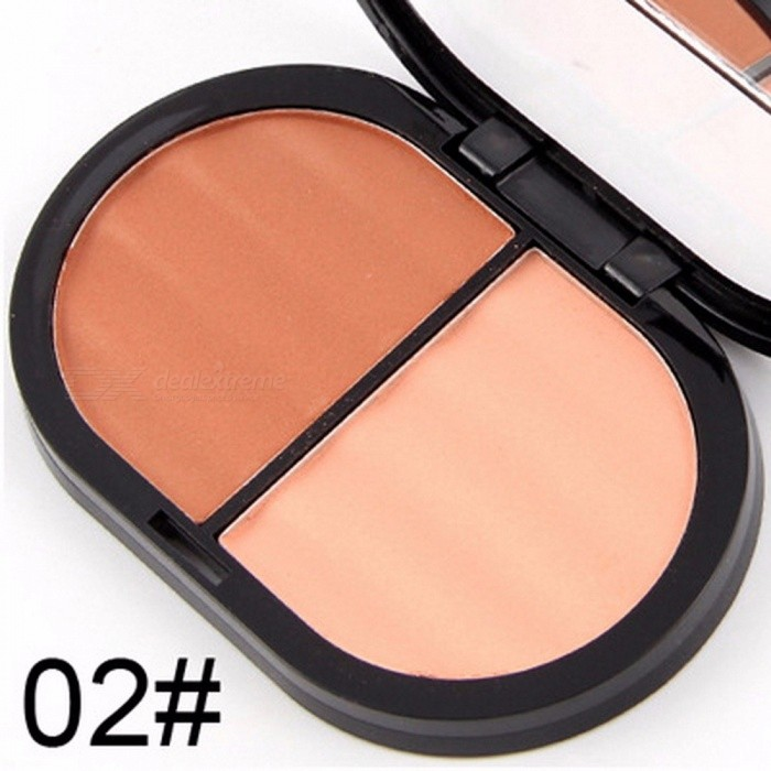 MISS ROSE Baked Blusher Soft Smooth Makeup Professional Face Make Up Blush Powder 2 Colors To Choose Chocolate