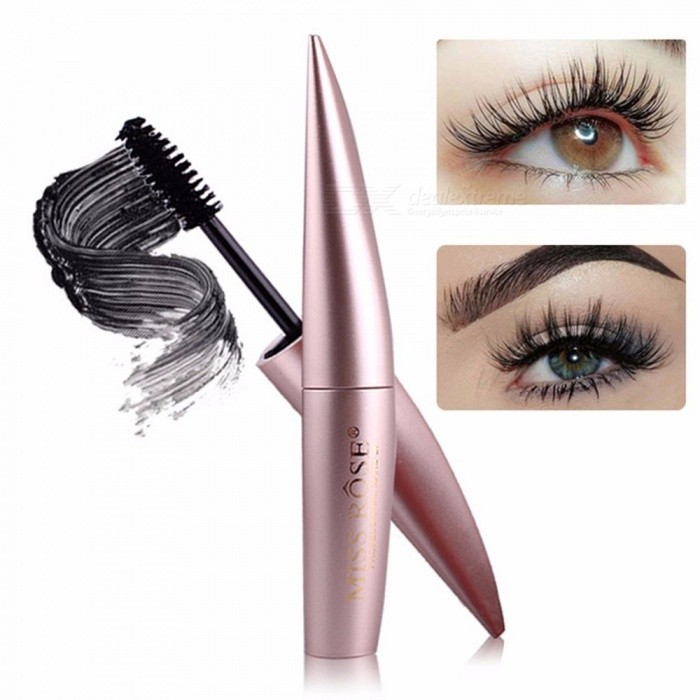 Buy Miss Rose Gold Black Mascara Thick Curling Lengthening Mascara For 4D Eyelashes Waterproof Long Lasting Quick Dry Black with Litecoins with Free Shipping on Gipsybee.com