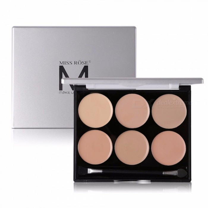 Buy MISS ROSE 6 Colors Black Rim Eye Concealer Powder, Blain To Imprint Concealer Block Defect Frost Chocolate with Litecoins with Free Shipping on Gipsybee.com