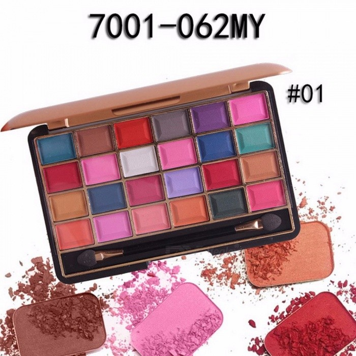 Buy Long-lasting 24 Colors Palette Shimmer Matte Pigment Eye Shadow Cosmetic, Mineral Nude Glitter Waterproof Eyeshadow (01#) with Litecoins with Free Shipping on Gipsybee.com