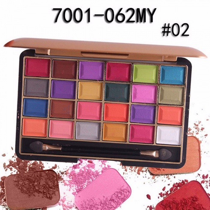 Buy Long-lasting 24 Colors Palette Shimmer Matte Pigment Eye Shadow Cosmetic, Mineral Nude Glitter Waterproof Eyeshadow (02#) with Litecoins with Free Shipping on Gipsybee.com