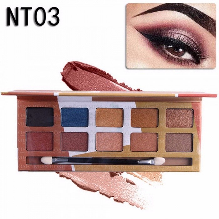 Buy 10 Colors Naked Eye Shadow Palette, Nude Palette Glitter Matte Eyeshadow Makeup Cosmetic (03#) with Litecoins with Free Shipping on Gipsybee.com