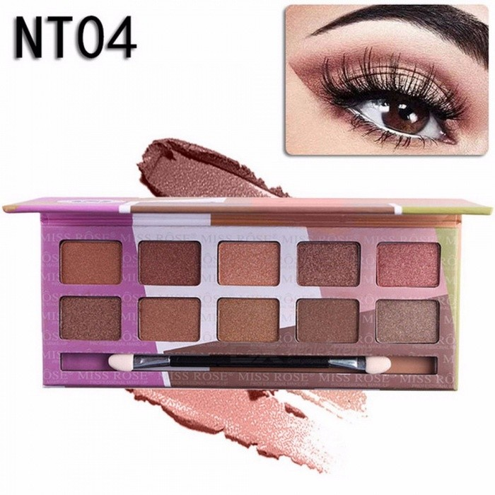 Buy 10 Colors Naked Eye Shadow Palette, Nude Palette Glitter Matte Eyeshadow Makeup Cosmetic (04#) with Litecoins with Free Shipping on Gipsybee.com