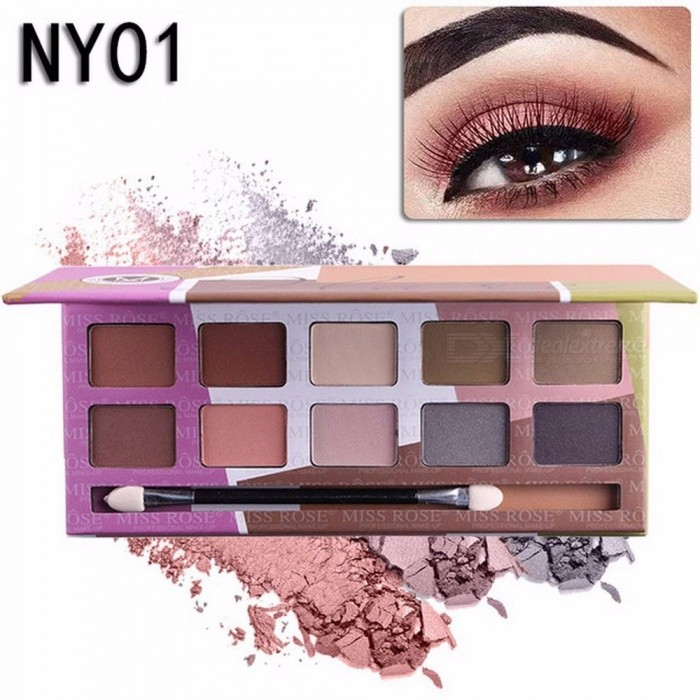 10 Colors Naked Eye Shadow Palette, Nude Palette Glitter Matte Eyeshadow Makeup Cosmetic (01#) for sale in Bitcoin, Litecoin, Ethereum, Bitcoin Cash with the best price and Free Shipping on Gipsybee.com