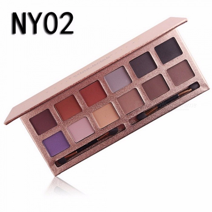 Buy 12 Colors Eyeshadow Palette, Professional Matte Naked Palette Glitter Eye Shadow, Nude Makeup Cosmetic (NY02) with Litecoins with Free Shipping on Gipsybee.com