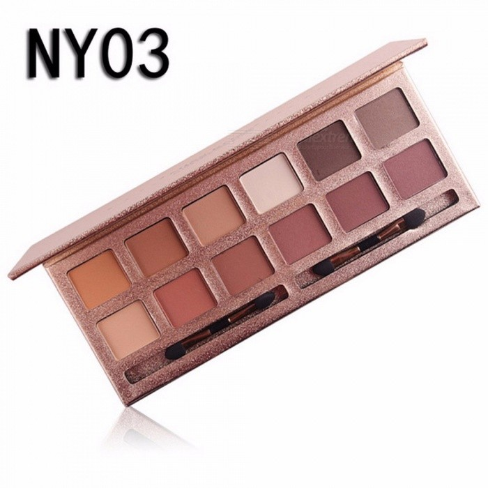 Buy 12 Colors Eyeshadow Palette, Professional Matte Naked Palette Glitter Eye Shadow, Nude Makeup Cosmetic (NY03) with Litecoins with Free Shipping on Gipsybee.com