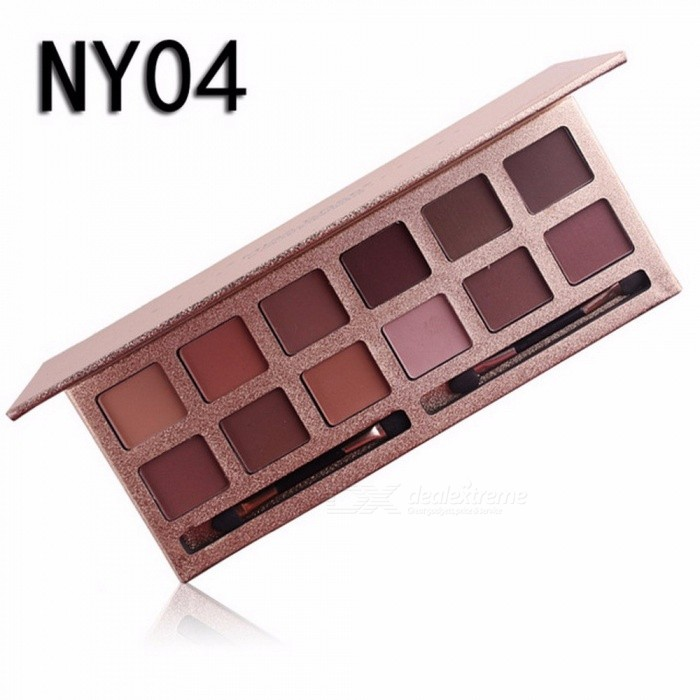 Buy 12 Colors Eyeshadow Palette, Professional Matte Naked Palette Glitter Eye Shadow, Nude Makeup Cosmetic (NY04) with Litecoins with Free Shipping on Gipsybee.com