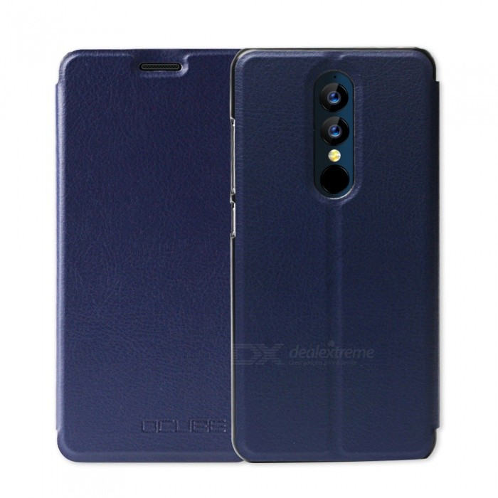 OCUBE Protective Flip-open PU Leather Case for UMIDIGI A1 Pro 5.5 Inches - Blue